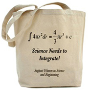 """Science needs to integrate!"" Tote Bag"